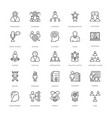 project management line icons 1 vector image vector image
