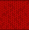 red knitted seamless pattern wool vector image