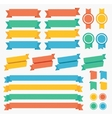 Ribbon and Labels Set vector image vector image