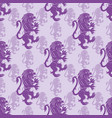 seamless pattern with lions vector image vector image