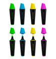 set of opened and closed highlighters vector image