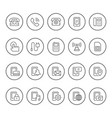set round line icons of phone vector image