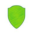 shield sign lemon scribble vector image vector image