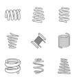 skein icons set isometric style vector image