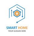 smart house logo design template vector image vector image