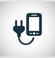 smartphone charge icon for web and ui on white vector image