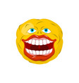 smiling emoticon crazy emoji happy is an emotion vector image