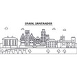 spain santander architecture line skyline vector image vector image