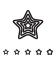 star icon isolated vector image vector image