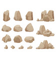 stone rock stones boulder gravel rubble and pile vector image vector image