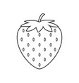strawberry line icon design isolated for your vector image