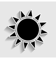Sun sign Sticker style icon vector image vector image