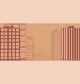 sunset urban landscape flat vector image