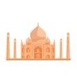 Tadj Mahal in Flat Design vector image