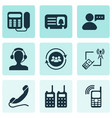 telecommunication icons set with message from user vector image vector image