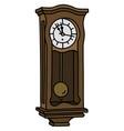 the vintage pendulum clock vector image