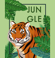 tiger in the jungle vector image vector image