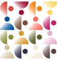 trendy color pattern by gradient color patches vector image