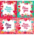 Valentines Day Paper Templates vector image