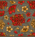 vintage floral colorful seamless pattern vector image