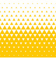 yellow white triangle halftone pattern background vector image vector image
