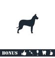 Dog icon flat vector image