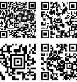 Square digital barcode vector image