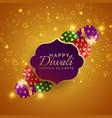sparkling diwali festival crackers background vector image