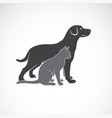 a dog and cat design on white background animal vector image