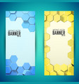 abstract geometric mosaic vertical banners vector image vector image