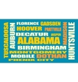 alabama state cities list vector image vector image