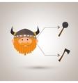 ancient warrior design vector image vector image