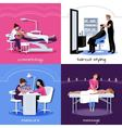 Beauty Salon People Concept vector image vector image