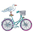 bike gull super summer vector image vector image