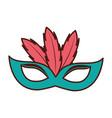 birthday mask feathers decoration celebration vector image vector image