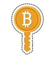bitcoin key isolated icon vector image