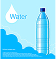 Bottle of clean water background vector image