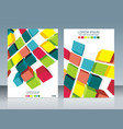 brochure template design with cubes elements eps vector image vector image