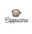 cappuccino logo inspired for cafe logo design vector image