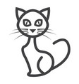 cat line icon halloween and scary animal sign vector image