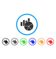 charts rounded icon vector image vector image