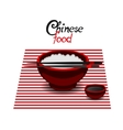 Chinese food rice color flat icon vector image