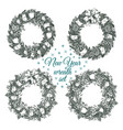Christmas wreaths for greeting card