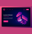 cloud storage 3d isometric technology concept vector image vector image