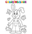 coloring book easter rabbit theme 6 vector image vector image