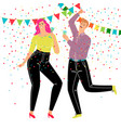 couple dancing party vector image