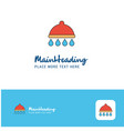 creative shower logo design flat color logo place vector image