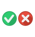 Delete and tick or check and cross marks vector image