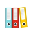 Documentation in folders icon flat style vector image vector image