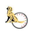 Dog Sitting Retro vector image vector image